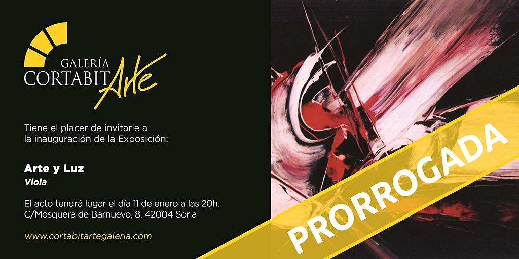 EXPOSICIONES | Arte y Luz · Viola | prorrogada