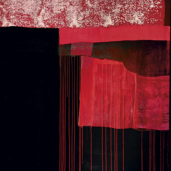 Muro rosa y negro rayado